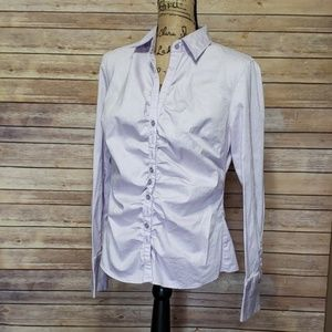 New York & Company Striped Button Down Shirt